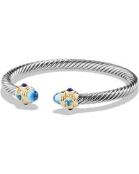 David Yurman - Renaissance Bracelet With Blue Topaz, Lapis Lazuli And 14k Gold - Lyst