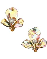 Lele Sadoughi Trillium Crystal & Multicolor Acetate Stud Earrings