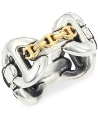 Hoorsenbuhs Affix Quad Two-tone Ring - Metallic