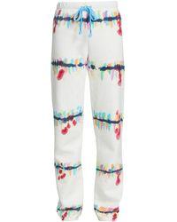 Warm Rainbow Splatter Tie-dye Sweatpants - Multicolor