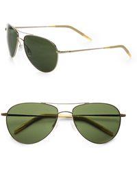 Oliver Peoples - Benedict 59mm Aviator Sunglasses - Lyst