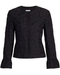 Akris Punto Magnolia Cloqu Bell-sleeve Jacket - Black