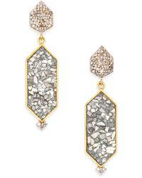 Shana Gulati - Charushila Champagne & Sliced Raw Diamond Drop Earrings - Lyst