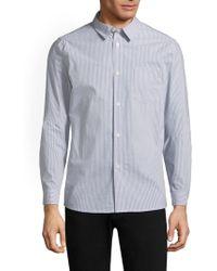 A.P.C. - Franklin Button-front Shirt - Lyst