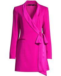 Jay Godfrey Roxy Crêpe Blazer Dress - Pink
