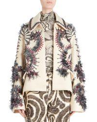 Dries Van Noten - Oversized Cyrstal Embellished Jacket - Lyst