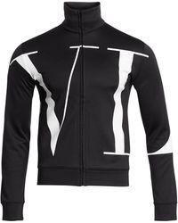 Valentino Vltn Zipped Jacket - Black
