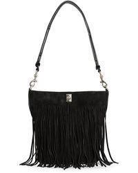 Rebecca Minkoff Darren Bucket Bag With Fringe - Black