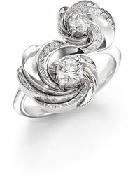 De Beers - Aria Diamond & 18k White Gold Signature Toi-et-moi Ring - Lyst