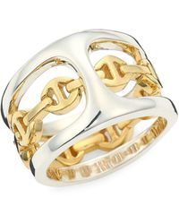 Hoorsenbuhs Phantom Clique Dame Two-tone Ring - Metallic