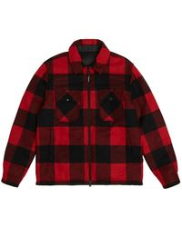 Woolrich - Plaid Wool-blend Reversible Shirt Jacket - Lyst