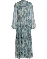 Jason Wu Firefly Printed Chiffon Day Dress - Blue