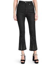 Miu Miu Embellished Flared Jeans - Black