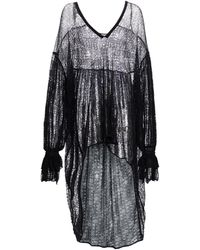 Saint Laurent Victorian Sheer High-low Coverup - Black