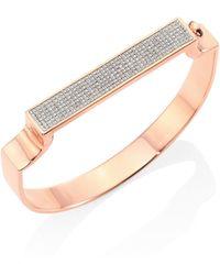 Monica Vinader - Signature Diamond Bangle Bracelet - Lyst