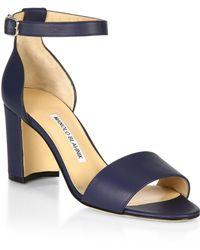 Manolo Blahnik - Lauratomod Leather Sandals - Lyst