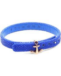 Stinghd - Anchor Leather Bracelet - Lyst