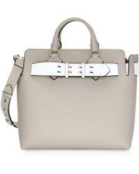 Burberry - Belt Bag Medium In Mineral Grey Marais Leather - Lyst