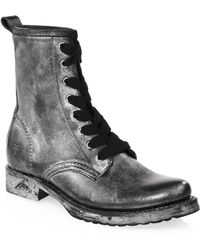 Frye - Veronica Leather Combat Boots - Lyst