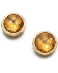 Marco Bicego - Jaipur Citrine & 18k Yellow Gold Stud Earrings - Lyst