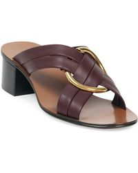 Chloé - Rony Leather Sandals - Lyst