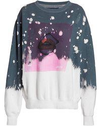 LA DETRESSE Acid Drop Graphic Sweatshirt - Gray