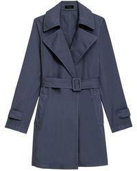 Theory Oaklane Trench Coat - Blue