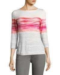 St. John - Brush Stroke Shirt - Lyst