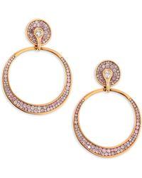 Plevé - Opus Pink Diamond & 18k Rose Gold Hoop Earrings - Lyst