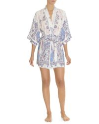 In Bloom - Floral-print Robe - Lyst