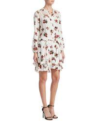 A.L.C. - Rori Floral Silk Mini Dress - Lyst