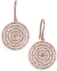 Astley Clarke - Icon Aura Grey Diamond & 14k Rose Gold Drop Earrings - Lyst