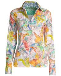 Robert Graham Priscilla Bird-print Shirt - Multicolor