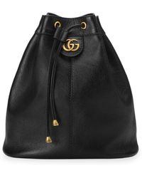 Gucci - Medium Re(belle) Leather Convertible Bucket Bag - Lyst