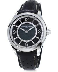 Frederique Constant - Horological Swiss Quartz Leather Watch - Lyst