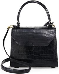 Nancy Gonzalez - Mini Lily Crocodile Top Handle Bag - Lyst
