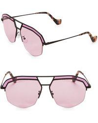 a89eee06da4 Loewe - Women s Lw40016i 60mm Aviator Sunglasses - Light Violet - Lyst