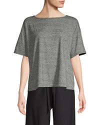 Eileen Fisher - Ballet Neck Box Top - Lyst