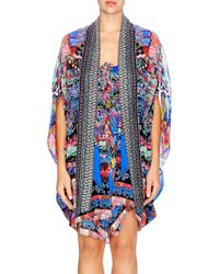 Camilla - Chinese Whispers Pretpos Open Front Silk Cape - Lyst