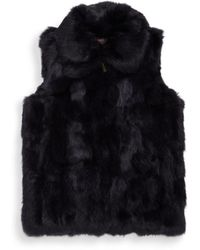 Surell - Girl's Rabbit Fur Vest - Lyst