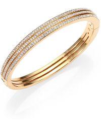Adriana Orsini - Pavé Crystal Three-row Bangle Bracelet/goldtone - Lyst