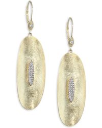 Meira T - Diamond & 14k Yellow Gold Drop Earrings - Lyst