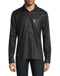 John Varvatos - Slim-fit Snap-button Shirt - Lyst