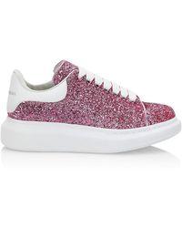 Alexander McQueen Oversized Glitter Sneakers - Pink