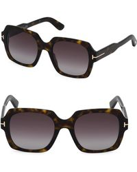 d437ad1f263 Lyst - Jimmy Choo 58mm Aviator Sunglasses in Brown
