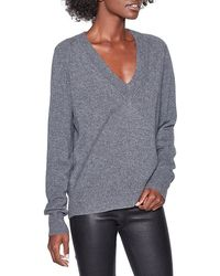 Equipment Madalene V-neck Cashmere Sweater - Gray