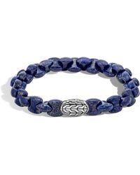 John Hardy - Batu Classic Sterling Silver And Lapis Lazuli Bracelet - Lyst