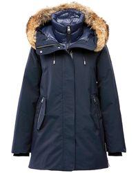 Mackage Kinslee Fur-trim Parka - Blue