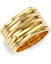 Repossi - 18k Yellow Gold Stacked Ring - Lyst