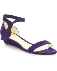 Alexandre Birman - Clarita Suede Ankle-tie Demi-wedge Sandals - Lyst